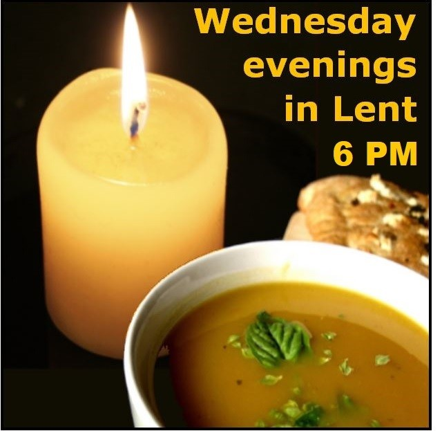 Lenten services: Soup, bread, fellowship, and a special worship during the season of Lent at Hope Lutheran